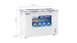 Tủ đông Hòa Phát-HCF-506S2N2 2 ngăn 2 cánh mở