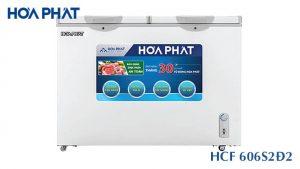 Tủ đông Hòa Phát HCF-606S2Đ2 2 ngăn 2 cánh mở