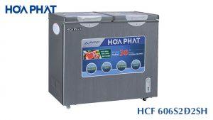 Tủ đông Hòa Phát-HCF-606S2Đ2SH 2 ngăn 2 cánh mở