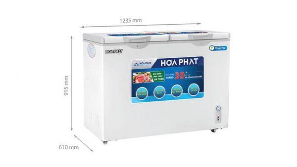 Tủ đông Hòa Phát -HCFI-606S2Đ2 inverter 2 ngăn 2 cánh mở